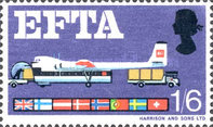 [Loading Plane from Trucks and Flags of EFTA Members, Typ HU]
