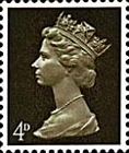 [Definitives - Queen Elizabeth II - A: 2-Band Phosphor, B: Centre Band Phosphor, Typ IB]