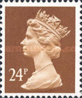 [Queen Elizabeth II - From Booklet, Imperforated Top or Bottom, type IB206]