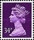 [Queen Elizabeth II - From Booklet, Imperforated Top or Bottom, Typ IB210]