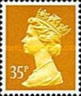 [Queen Elizabeth II - From Booklet, Imperforated Top or Bottom, Typ IB211]