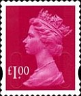 [Definitive Issue - Self-Adhesive Stamps with 2-Band Phosphor - Security Pattern Lettering in Background, Typ IB313]