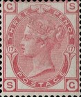 [Queen Victoria - Colored Control Numbers in Corners, Typ W]