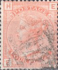 [Queen Victoria - Colored Control Numbers in Corners, Typ X]