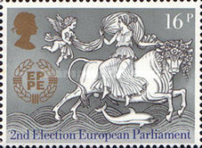 [EUROPA Stamps - The 25th Anniversary of CEPT and the 2nd Election of the European Parliament, Typ ZJ]