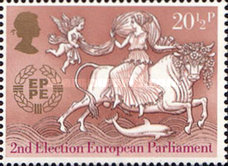 [EUROPA Stamps - The 25th Anniversary of CEPT and the 2nd Election of the European Parliament, Typ ZJ1]