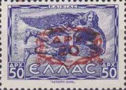 [Airmail Stamps of 1943 Surcharged in Black or Red, type GE19]