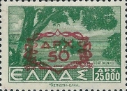 [Stamps of 1942 & 1944 Surcharged in Black or Red, type GE5]