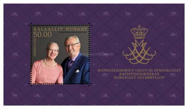 [The 50th Anniversary of the Wedding of Queen Margrethe II & Prince Henrik - Joint Issue with Denmark & Faroe Islands, Typ ]