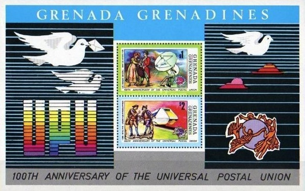 [The 100th Anniversary of U.P.U. - Issues of 1974 of Grenada, but inscribed