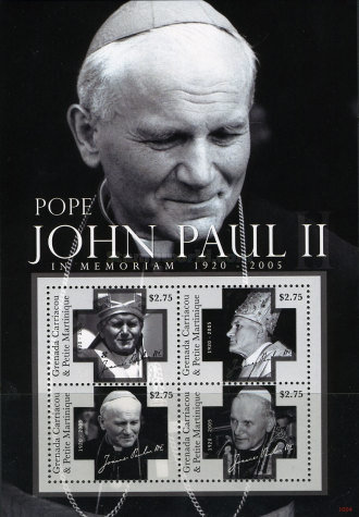 [The 5th Anniversary of the Death of Pope John Paul II, 1920-2005, type ]