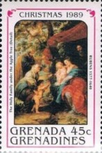 [Christmas - Paintings by Rubens, type AWI]