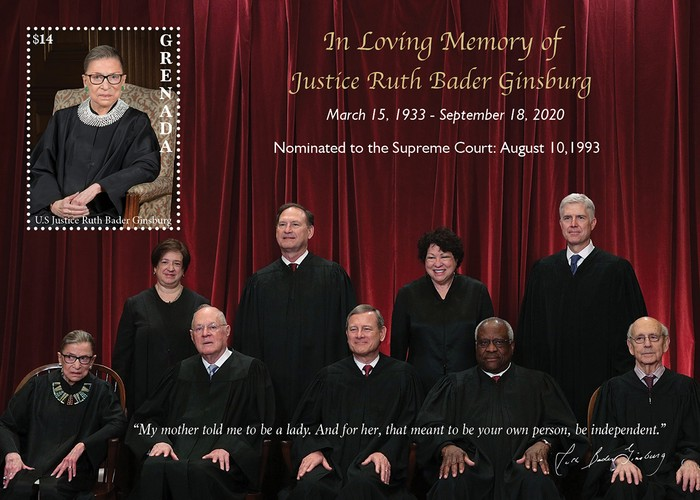 [Tribute to Justice Ruth Bader Ginsburg, 1933-2020, type ]