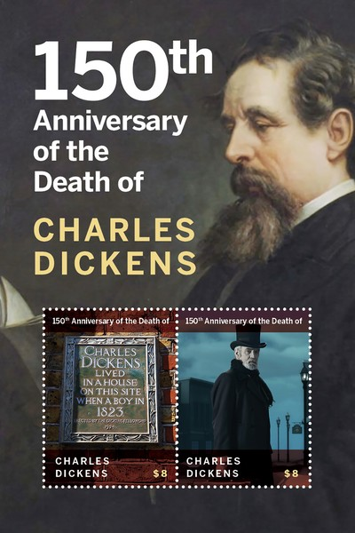 [The 150th Anniversary of the Death of Charles Dickens, 1812-1870, type ]