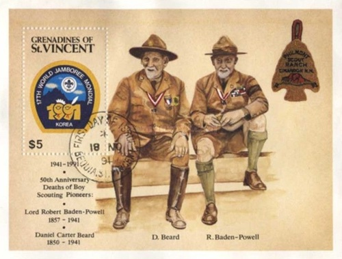 [The 50th Anniversary of the Death of Scout Movement Pioneers Lord Baden-Powell and Daniel Carter Beard, and World Scut Jamboree in Korea, Typ ]