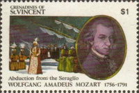 [The 200th Anniversary of the Death of Wolfgang Amadeus Mozart, 1756-1791, Typ ACL]