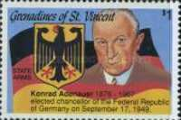 [The 25th Anniversary of the Death of Konrad Adenauer, 1876-1967, Typ AHU]