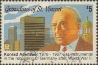 [The 25th Anniversary of the Death of Konrad Adenauer, 1876-1967, Typ AHX]