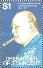 [The 100th Anniversary of the Birth of Sir Winston Churchill - Stamps of St. Vincent but Inscribed