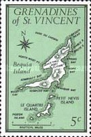 [Maps of Grenadines of St. Vincent - Bequia Island, Typ CD]