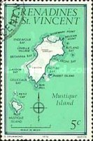 [Maps of Grenadines of St. Vincent - Mustique Island, Typ CG]