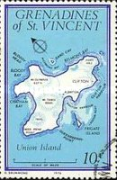 [Maps of Grenadines of St. Vincent - Union Island, Typ CJ1]