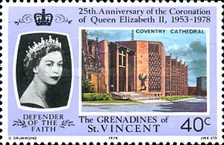 [The 25th Anniversary of Coronation - British Cathedrals, Typ DZ]
