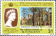 [The 25th Anniversary of Coronation - British Cathedrals, Typ EA]