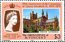 [The 25th Anniversary of Coronation - British Cathedrals, Typ EB]