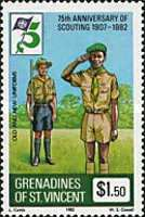 [The 75th Anniversary of Boy Scout Movement, Typ HI]