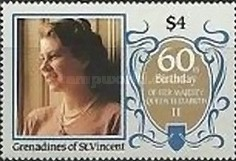 [The 60th Anniversary of the Birth of Queen Elizabeth II, Typ PO]