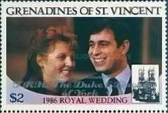 [Royal Wedding - Various Stamps Overprinted