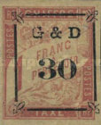 [French Colonies - General Issues Postage Due Stamps Surcharged, Typ C]