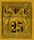 [French Colonies - General Issues No.32 & 44 Surcharged, Typ A1]