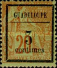 [French Colonies - General Issues No.51 Surcharged, Typ B]