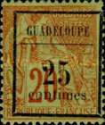[French Colonies - General Issues No.51 Surcharged, Typ B2]