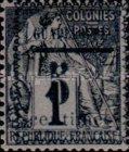 [French Colonies - General Issues Stamps No.45,51,54 & 56 Surcharged, Typ C]