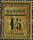 [French Colonies - General Issues Stamps No.45,51,54 & 56 Surcharged, Typ C2]