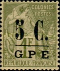 [French Colonies- General Issues No. 48 & 58 Surcharged, Typ D1]