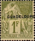 [French Colonies- General Issues No. 45-51 & 53-58 Overprinted