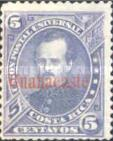 """[Costa Rica Postage Stamps No. 10-14 Overprinted """"Guanacaste"""" Horizontally, Typ A7]"""