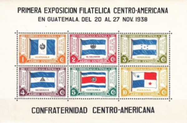 [Airmail - The 1st Central American Philatelic Exhibition - Inscribed