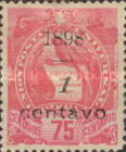 """[Various Stamps Overprinted """"1898, Bar and 1 Centavo"""" and Surcharged, type AA1]"""