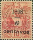 """[Various Stamps Overprinted """"1898, Bar and 1 Centavo"""" and Surcharged, type AA2]"""