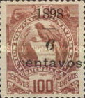 """[Various Stamps Overprinted """"1898, Bar and 1 Centavo"""" and Surcharged, type AA4]"""