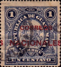 """[Issues of 1897 Overprinted """"CORREOS NACIONALES"""" or Surcharged 2 CENTAVOS also, type AB]"""