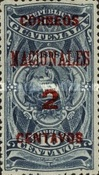 """[Issues of 1898 Overprinted """"CORREOS NACIONALES"""" and Surcharged, type AC3]"""