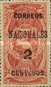 """[Issues of 1898 Overprinted """"CORREOS NACIONALES"""" and Surcharged, type AC4]"""