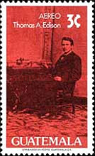[Airmail - The 50th Anniversary of the Death of Thomas Alva Edison, 1847-1931, type AFG]