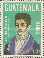 [Airmail - The 200th Anniversary of the Birth of Jose Cecilio del Valle, Patriot, 1780-1834, type AFK]